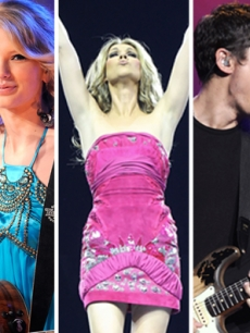 Taylor Swift, Celine Dion and John Mayer
