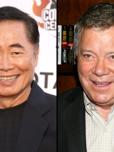 George Takei and William Shatner