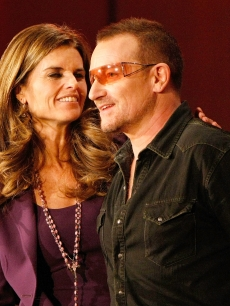 California First Lady Maria Shriver and musician Bono speak at the 2008 Women&#8217;s Conference at the Long Beach Convention Center
