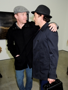 Guy Ritchie and Robert Downey Jr. attend the private view of Sam Taylor Wood's new exhibition 'Yes I No', at the White Cube Gallery