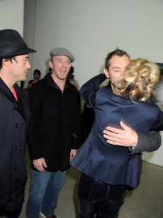 Robert Downey Jr., Guy Ritchie, Jude Law and Sam Taylor-Wood attend the private view of Sam Taylor Wood's new exhibition 'Yes I No'