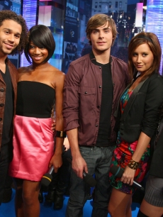 Corbin Bleu, Monique Coleman, Zac Efron, Ashley Tisdale and Vanessa Hudgens visit 'TRL'