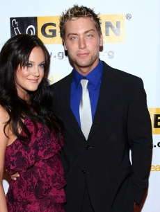 Lacey Schwimmer and &#8216;Dancing&#8217; partner Lance Bass at the 2008 GLSEN Awards