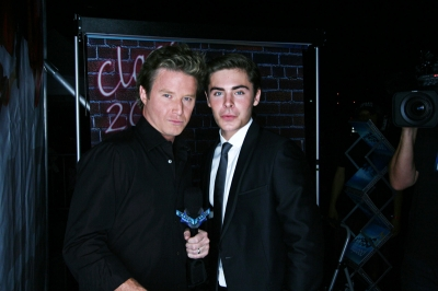 Billy Bush and Zac Efron at the 'HSM 3' premiere