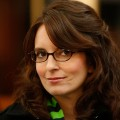 Tina Fey smiles on the set of '30 Rock'