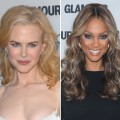 Nicole Kidman and Tyra Banks at the Glamour Women of the Year 2008 event
