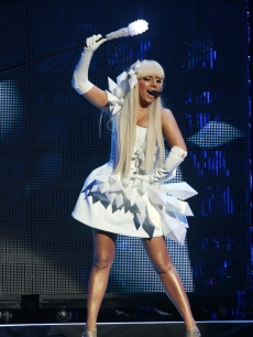 Lady Gaga opens up for the New Kids on the Block at Madison Square Garden in NY