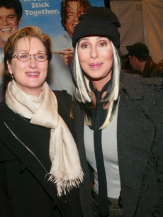 Meryl Streep and Cher at the premiere of 'Stuck On You,' NYC, 2003