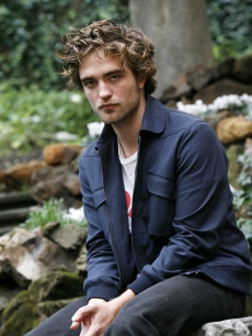 A somber Robert Pattinson at the 'Twilight' portrait session in Rome, Italy