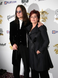 Ozzy and Sharon Osbourne at the Classic Rock Roll of Honour in London