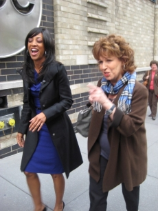 Shaun Robinson and 'View' co-host Joy Behar head to the polls in NY