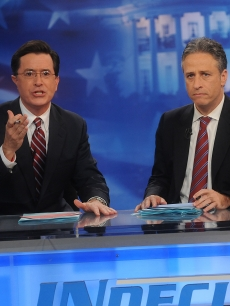 Stephen Colbert and Jon Stewart host Comedy Central&#8217;s &#8216;Indecision 2008&#8217; 