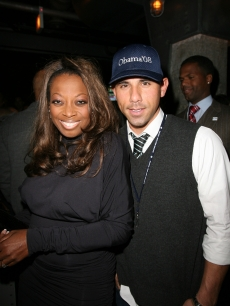 Star Jones and Billy Dec at the Barack Obama Victory Party at Underground in Chicago, Illinois
