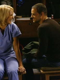 Dr. Alex Karev (Justin Chambers) and Dr. Izzie Stevens (Katherine Heigl) on &#8220;Grey&#8217;s Anatomy&#8221; 