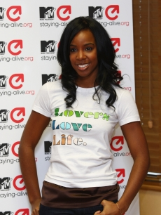 MTV Staying Alive Foundation Ambassador Kelly Rowland attends the MTV &#8216;Staying Alive&#8217; 10th Anniversary Press Conference prior to the MTV Europe Music Awards
