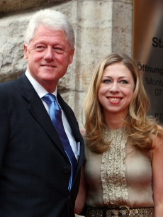 Bill Clinton and daughter Chelsea Clinton