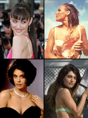 Some of James Bond's lovely ladies over the years!