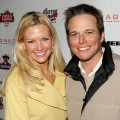 Scott Wolf and wife Kelley arrive at the ICM talent agency party at Sundance, 2006