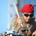 Travis Barker performs during the celebration of the launch of T-Mobile in South Carolina at T-Mobile Boulevard