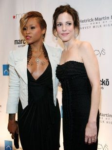Eve and Mary-Louise Parker attend the 2008 Emery Awards at Cipriani in NYC