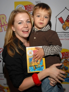 Melissa Joan Hart and son Mason attend the Build-A-Bear Wii party in Hollywood
