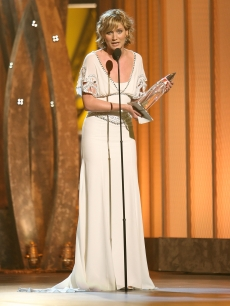 Jennifer Nettles of Sugarland accepts the award for Song of the Year &#8216;Stay&#8217; 