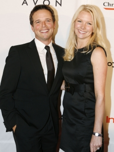 Scott Wolf and his wife Kelley Limp, October 16, 2007