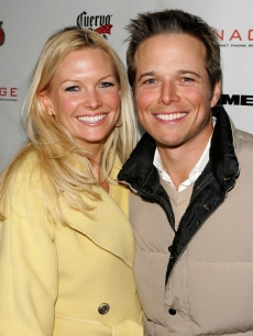 Kelley Limp and husband Scott Wolf attend a party at Sundance 2006
