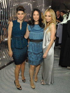 Marisa Tomei, Lucy Liu, and Nicole Richie attend the Alberta Ferretti US flagship store opening