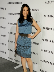 Lucy Liu at the Alberta Ferretti store opening in LA