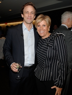 Seth Meyers and Suze Orman attend the TIME Person of the Year luncheon, Nov. 2008, NYC