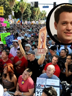 T.R. Knight joined the Prop. 8 protesters in LA