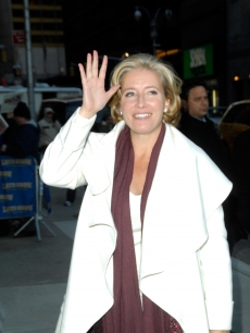 Emma Thompson visits 'Late Show with David Letterman' at the Ed Sullivan Theater