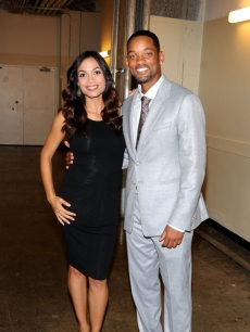 Rosario Dawson and Will Smith arrive to the &#8216;Seven Pounds&#8217; premiere in Miami in 2008