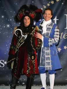 Henry Winkler and Steve Guttenberg pose for photos, ahead of playing Captain Hook at the Milton Keynes Theatre and Baron Hardup at Churchill Theatre Bromley, respectively, over Christmas Pantomime Season, at the O2 Centre in London