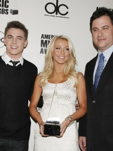Jesse McCartney, Julianne Hough and Jimmy Kimmel help announce the American Music Awards nominations in LA