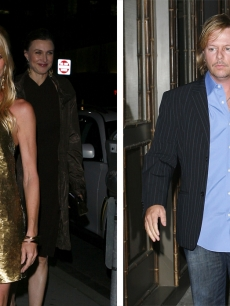 Nicollette Sheridan and David Spade arrive for her birthday at Luau in Beverly Hills