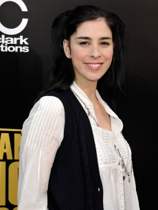 Sarah Silverman keeps it simple at the 2008 AMAs red carpet