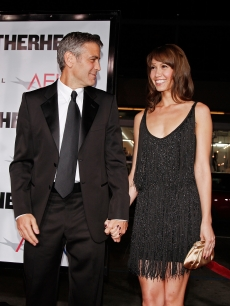 Sarah Larson and George Clooney, 2008