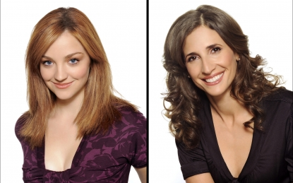 Abby Elliott and Michaela Watkins