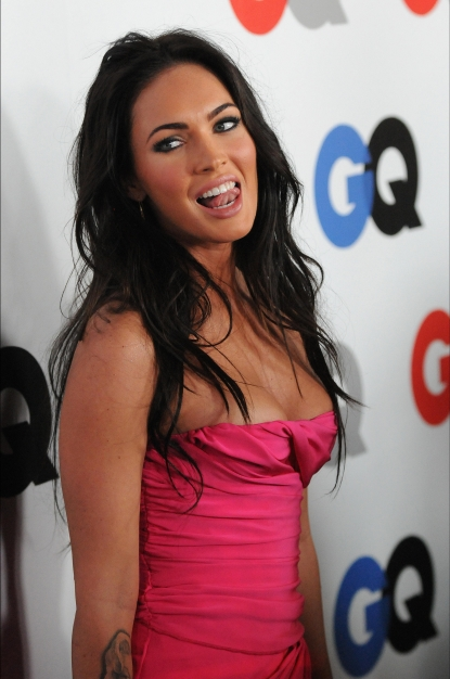Megan Fox arrives at the GQ Men of the Year party at the Chateau Marmont Hotel in LA