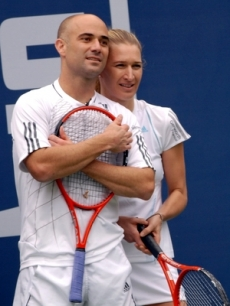 Andre Agassi and Steffi Graff are a bit shocked