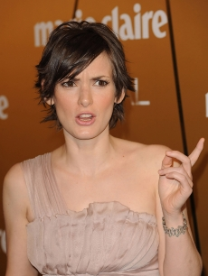 Winona Ryder in Spain, Nov. 2008