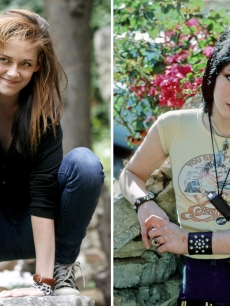 Kristen Stewart and Joan Jett in her Runaways days