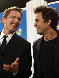 Ethan Hawke and Mark Ruffalo speak at the 'What Doesn't Kill You' press conference during the 2008 Toronto International Film Festival