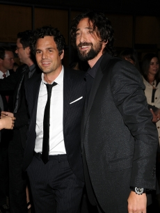 Mark Ruffalo and Adrien Brody arrive at 'The Brothers Bloom' premiere during the 2008 Toronto International Film Festival