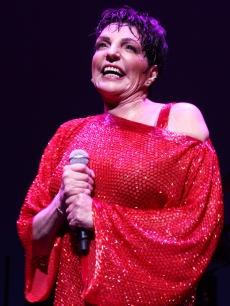 Liza Minnelli performs on the opening night of 'Liza's At The Palace!' on Broadway in New York