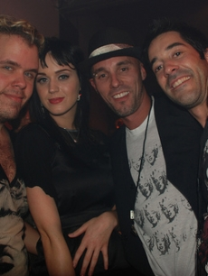 Perez Hilton, Katy Perry, Tom Whitman and a friend
