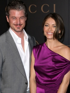 Eric Dane and Rebecca Gayheart in New York (Feb. 2008)
