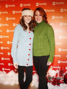 Shailene Woodley and Molly Ringwald attend ABC Family's '25 Days of Christmas' winter wonderland event in NYC